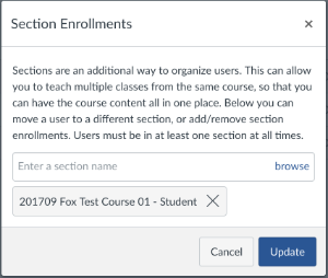 Section Enrollment Window