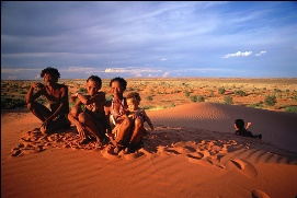 Figure 2 A San Family In Kalahari Desert South Africas People 2007